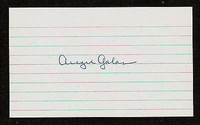 Augie Galan (d. 1993) signed autograph Baseball 3x5 Index Card 2051-09