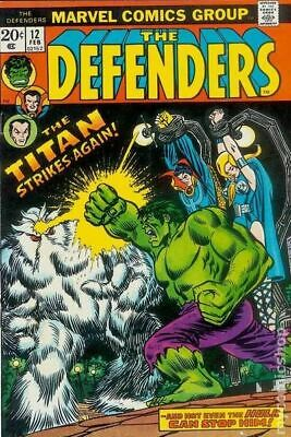 Defenders (1st Series) #12 1974 VG- 3.5 Stock Image Low Grade