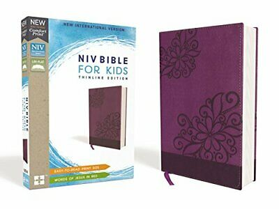 NIV Thinline Bible For Kids (Purple Leathersoft)
