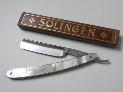 AMAZING !! OTHELLO Solingen Rasiermesser TOP Straight Razor MOTHER OF PEARL!