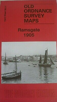 Old Ordnance Survey Detailed Maps Ramsgate Kent  1905  Godfrey Edition New