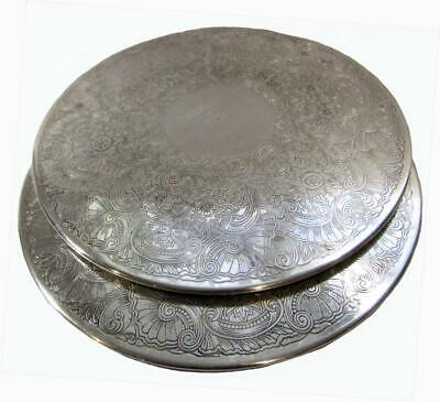 Rodd Silverplate Dinner Coasters cm Diameter Set 2 Vintage 60's