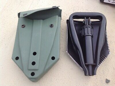 Army Surplus Shovel Ames Military Entrenching Tool// E-Tool /& OD Green Hard Case
