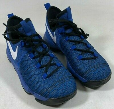 fc909c1abbdb Nike 855908-410 KD Kevin Durant 9 Blue Black Basketball Shoes Youth Boys 5.5