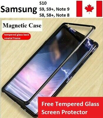 Samsung Magnetic Absorption Single Glass Case S10,S9,Plus,Note 9,S8,Plus,Note 8