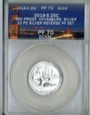 2018-S San Francisco Silver Reverse Proof PF 70 Voyageurs National Park (MN) 25C