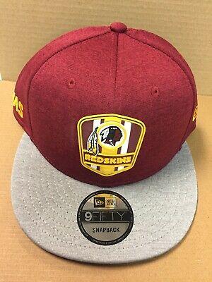 27c7c5a86692a1 Washington Redskins New Era 2018 NFL Sideline Road 9FIFTY Black Snapback Hat  NWT