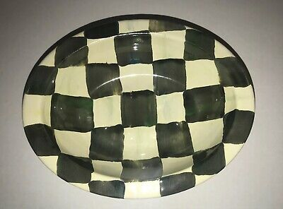 MacKenzie Childs Courtly Check Enamel Convent Garden Bar Soap Dish New
