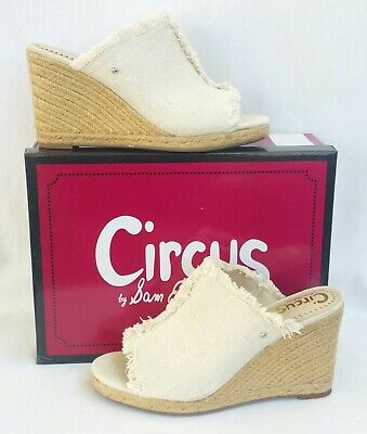 ed4b598d789 Circus by Sam Edelman Baker Wedge Sandals Espadrille Ivory Womens Size 9
