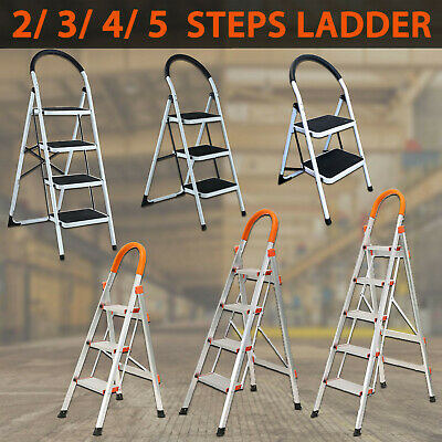 2 3 4 5 Step Ladder Multi Purpose  Domestic Household Office Foldable Non Slip