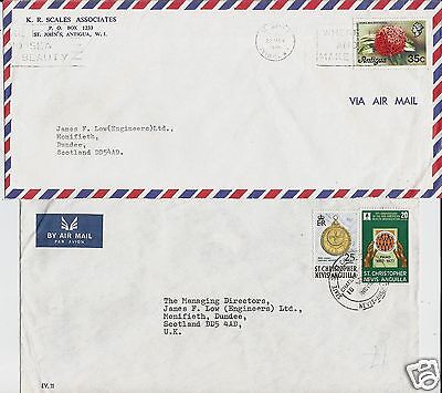 6 varied West Indies covers from 1970-80s commercial correspondence to Scotland