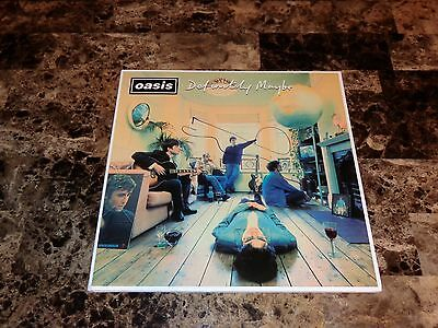 Oasis Rare Noel Gallagher Hand Signed Reissue Vinyl Record Definitely Maybe COA