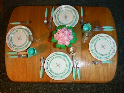Barbie Kitchen Littles Floral Dinnerware Set Plus *Bonus* Flowers