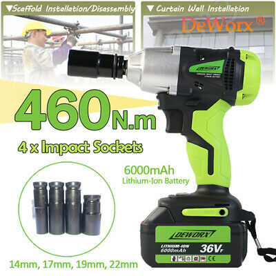 6000mah 21v 1 2 Sq Cordless Impact Wrench Wireless Driver Heavy Duty W