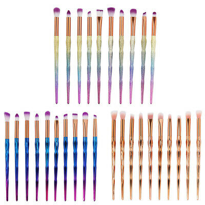 10PCS Eye Make Up Brushes Eyeshadow Eyeliner Blending Eyebrow Brushes Set