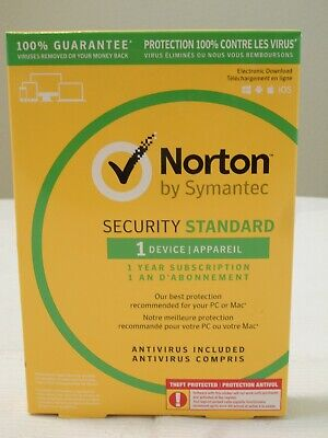Norton Security Standard 3.0 2019 Download 1 Device License n SEALED Retail Box