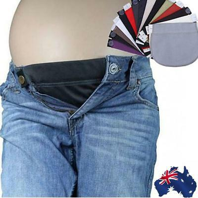 AU! Maternity Pregnancy waistband belt ADJUSTABLE elastic waist extender pants