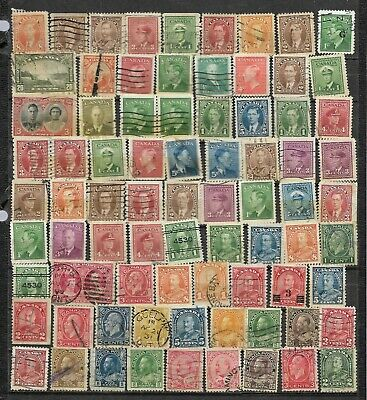 pk41979:Canada Lot of 75 Old Canada Issues - Mostly Definitives - Used