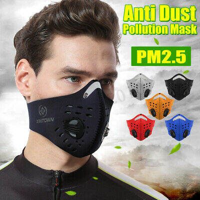 Face Mask Half Anti Dust Pollution Filter Sport Cycling Bicycle Bike   US