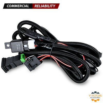 h11 fog light wiring harness relay on off switch wire connector assembly kit  h11 wiring harness #15
