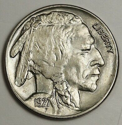 1927 Buffalo Nickel.  Original Natural B.U.  134695