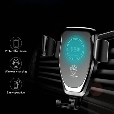 Car Mount Qi Wireless Charger Automatic Clamping Fast Car Charging Phone Holder