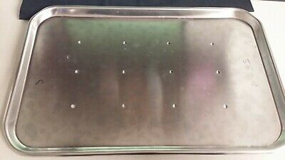 """Stainless 17.75"""" X 11"""" Tray Surgical Medical Dental Vet Surgeon Dentist Training"""