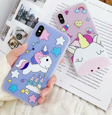 Cartoon Lovely Unicorn Case for iphone XS MAX XR X 8 7 6s 6 plus