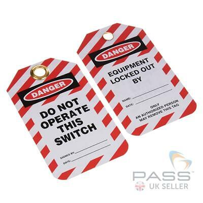 Lockout Tagout Tags - 'Do Not Operate this Switch' - Pack of 10