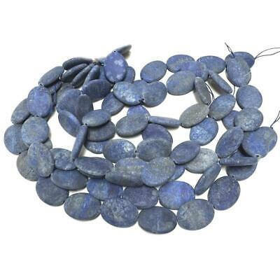 Lapis Lazuli Puffy Oval Beads 12x18mm Blue 20+ Pcs Frosted Gemstones Jewellery