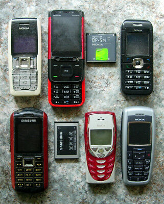LOT x5 NOKIA 2310 2600 5610 6030 8310 + SAMSUNG B2100 Handy Mobile Cell Phone