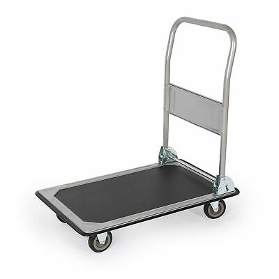 Chariot plateforme chariot de transport pliable manutention noir Toolerando