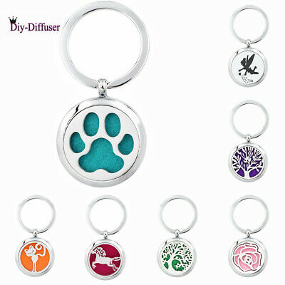 Aroma Diffuser DIY keychain Necklace Lockets Perfume Essential Oil Aromatherapy