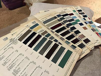 Studebaker Rare Vintage Parts Paint Chips Charts 1937-1954. Complete Set Look!!