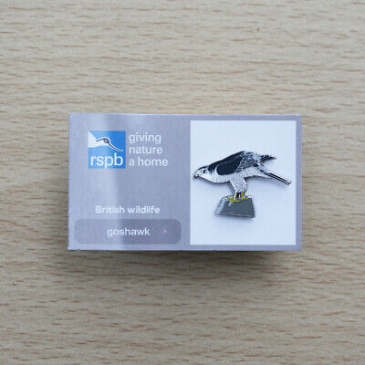 RSPB Pin Badge Goshawk on Giving Nature a Home Card