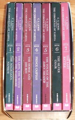 C. S. Lewis The CHRONICLES Of NARNIA Complete BOX SET of Chapter Books 1-7