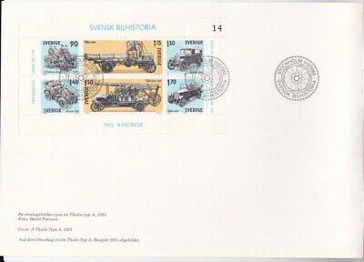Sweden 1980 Swedish Automobile History booklet with Sc #1334 SS FDC