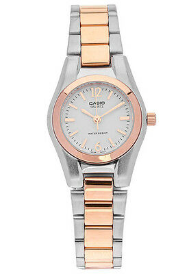 Casio LTP1253SG-7A Ladies Two-Tone Gold Stainless Steel Dress Watch Analog NEW