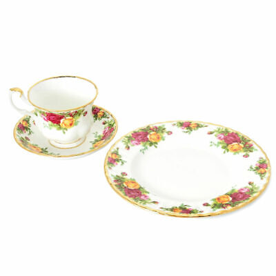 Royal Albert Old Country Roses Bone China Tea Cup, Saucer & Plate Set