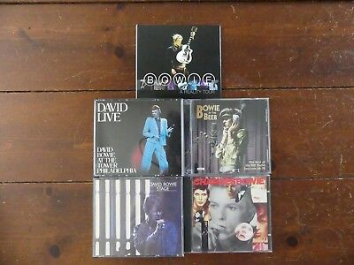 David Bowie - Lot of 4 Live 2CD Sets + 1 FREE Best Of CD