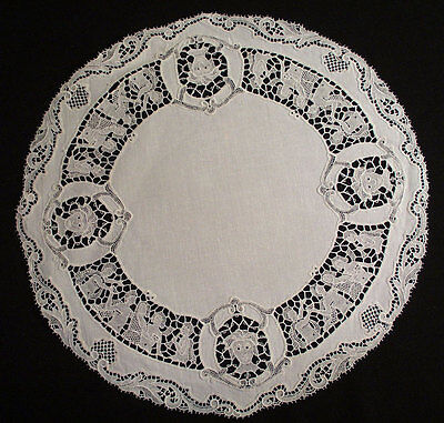 Antique Vintage Italian Placemats Coasters Figural Round and Oval Set Of 12