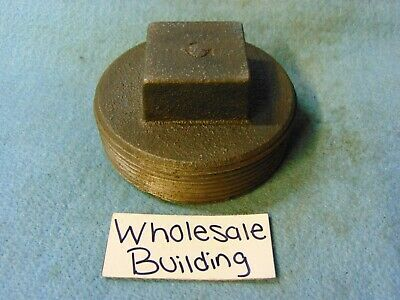 """Grinnell, 3"""" Pipe Square Head Plug, Threaded, Malleable Iron"""