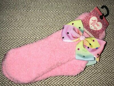 BNWT Girls Pink With Bows 2 Pack Slipper Socks. Size 12-3 Shoe