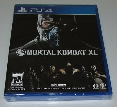 Mortal Kombat XL for Playstation 4 Brand New! Factory Sealed!
