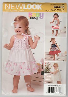 f19bec2bc22 New Look Sewing Pattern 0453   6353 Babies Tiered Dress and Panties Sz NB-L