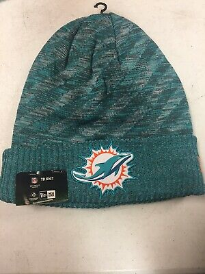 sports shoes 0b6bc 00dcb Miami Dolphins New Era 2018 NFL Official Sideline TD Knit Colors Hat NWT