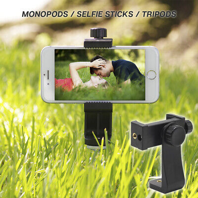 360 Degree Rotation Smartphone Cell Phone Mount Holder Adapter Tripods or Stands