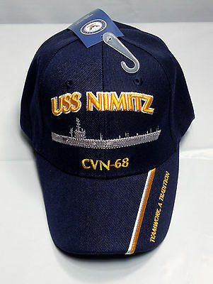 ff77a0c8c52 USS Nimitz CVN 68 Ball Cap Embroidered US Navy Aircraft Carrier Aviation  Vet Hat