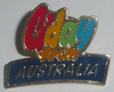 G'DAY FROM AUSTRALIA Hat Lapel PIN gday Aussie Souvenir hat tie tack badge NEW