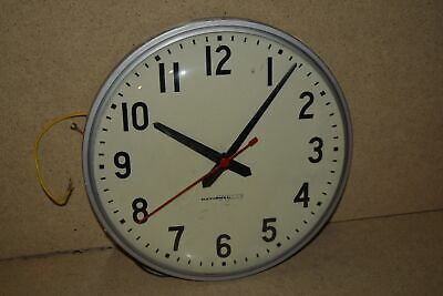 "^^ National Time Clock 12"" Vintage Dial Hard Wired School/industrial Clock (4D)"